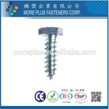 Feito em Taiwan Carbon Steel Grade 8.8 Hex Lag Bolt