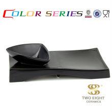 Color de China de hueso que mezcla las placas coloridas para los nuevos productos del restaurante