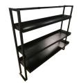 Estante de metal de almacenamiento plegable de cuatro estantes para trabajo pesado