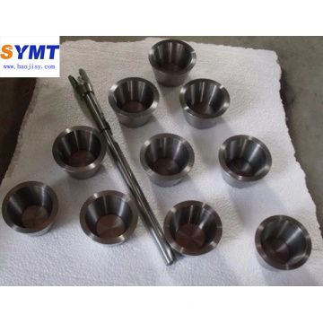 Polished Tungsten crucible wolfram crucible for melting