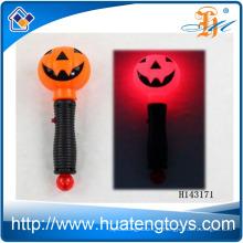 2014 Hot sale clignotant de potiron de citrouille avec musique Halloween Light Stick Toys