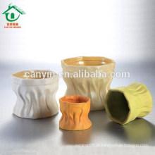 2015 novo estilo coreano do produto colorido baratos potes cerâmicos