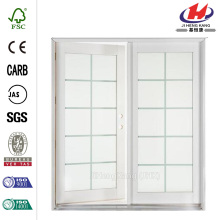 White Aluminum/Wood French Patio Door