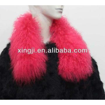 cuello de oveja mongol teñido para la chaqueta