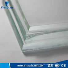 19mm gehärtetes Glas Clear Float Glass mit CE & ISO9001