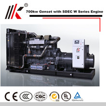 DIESEL GENERATORS PRICE LIST OF CHINA ENINGE SDEC SC33W1150D2 700KW HHO GENERATOR KIT