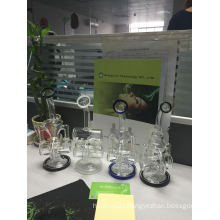 in Stock! ! New Arrival Double Recycler Glass Water Pipes, Smoking Waterpipe