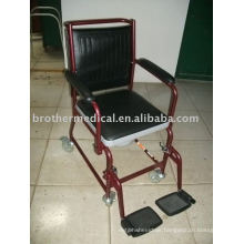Multi-functions Steel Commode Chair with Wheels Lock