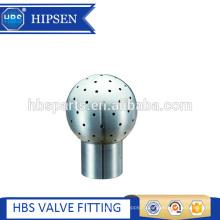réservoir sanitaire en acier inoxydable 360 deg nettoyage boule de pulvérisation boulonnée fixe