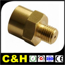 Fábrica de precisão de alta precisão CNC Machining Chromed Brass Pipe Fitting com ISO9001: 2008