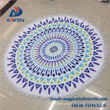 2018 Summer Popular Products Printed Circle Round Beach Towel