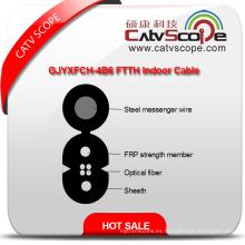 Proveedor de China de alta calidad Gjyxfch-4b6 FTTH interior fibra óptica Cable