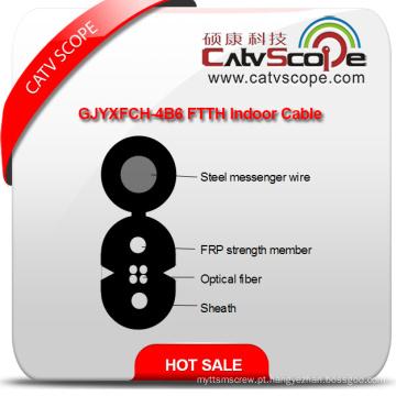 China fornecedor de alta qualidade Gjyxfch-4b6 FTTH cabo de fibra óptica interior