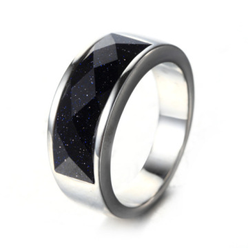 Wholesale Jewelry Black Titanium Ring Engagement Men Ring