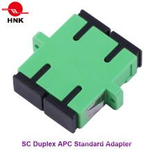 Sc Duplex Singlemode APC adaptateur fibre optique en plastique standard