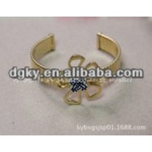 Gold plated surgical stainless steel no toxic opening bangle