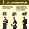 2017 ИЧАН высокое качество Электрический прокатки черной шали вибрации шеи массажер для здравоохранения