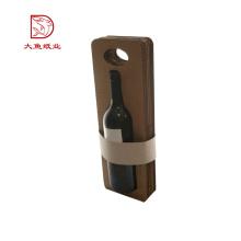 Taille faite sur commande pas cher prix ondulé boîte de vin unique avec poignée