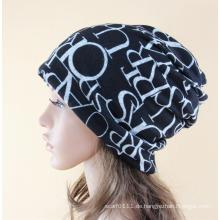 Lady Fashion Letters gedruckt Baumwolle gestrickte warme Ski Hut (YKY3131)