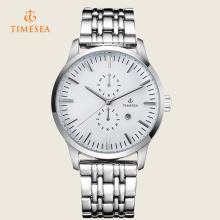 Custom Logo Alloy impermeável relógio pulseira, homens relógios de pulso Negócios 72227