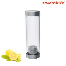 Único botella de agua de vidrio de beber con ss tapa e infuser