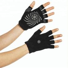 Высокое качество хлопок ПВХ Анти-скольжения перчатки для йоги