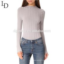 2017 nouveau style OEM stripe lady dernières conceptions de chandail pour les filles