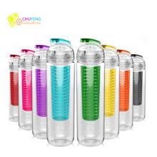 Bouteille de café de bouteille d'eau de Tritan d'infuseur de fruit 900ml sans BPA pour le sport et l'extérieur