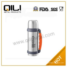 Vacuum insulated stainless steel travel bottle