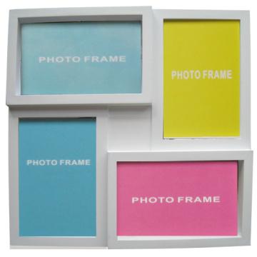 4 ouverture détient 4 par 6 et 6 par 4 blanc Photo Frame