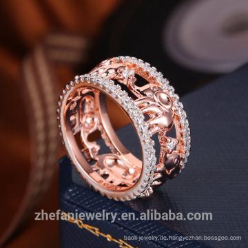 bester Preis hochwertiger Großhandel Schmuck Hersteller günstigen Preis Großhandel CZ Ring Gold Ehering
