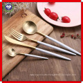 18 to 10 Sharp Knife and Fork Spoon Handle Black Gold L Stainless Steel Tableware High-Grade Western Knife and Fork