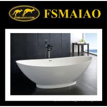 Schöne Kurve freistehende feste Oberfläche Badewanne (BS-8609)