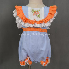 2019 boutique clothing girl Halloween pumpkin romper