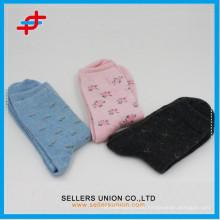 2015 Heiße OEM-Dame handgemachte Qualitätsangora-Wolle-starke Socken
