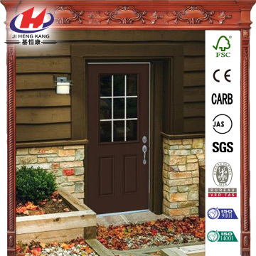 Dark Chocolate Painted Premium Steel Prehung Front Door