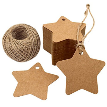 Promotional Star Shape Paper Gift Tags