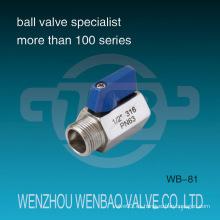 """Válvula de bola de 1/2 """"Mini M / F 316 Pn63"""