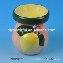 Brûleur à l'huile en céramique à décoration intérieure avec design de fruits