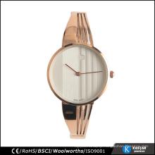 Ladies bracelet watch stainless steel back case buckle, fashion watch manufacturer in Shenzhen