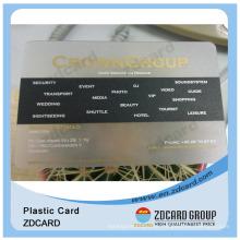 Cartão de plástico transparente do OEM