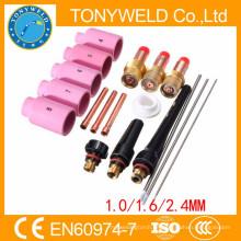 Lente del gas de la soldadura 18PK tig para los kits de las piezas de la antorcha de la soldadura wp17 tig