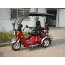 Behindertengas Rollstuhl mit Regenschutz