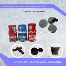 filtro de tapa de botella de carbono activado