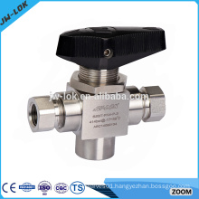 3 way stainless steel female threaded end ball valve