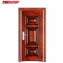 TPS-052 Fabricación barata moderna doble de la puerta del hierro labrado