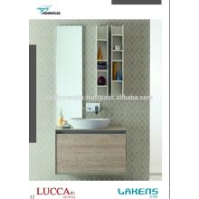 2017 доступным серийный ванная комната суета, меламин покрытием МДФ дверей и каркас, Собственн-Конструкция ручки современный вид