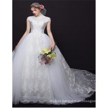 Por encargo 2017 de alta calidad de alto collar de estilo chino vestido de boda vestido de bola
