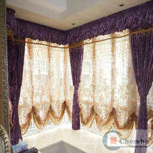beautiful voile wave roman blind&shutter