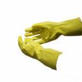Algodão NMSAFETY doméstico forrado luvas de látex amarelo